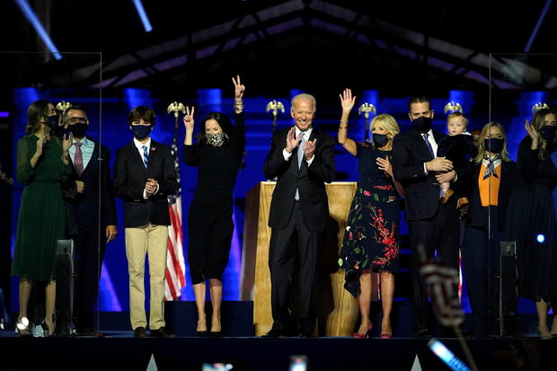 Democratic 2020 U.S. presidential nominee Joe Biden's an election rally, after news media announced that Biden has won the 2020 U.S. presidential election, in Wilmington, Delaware