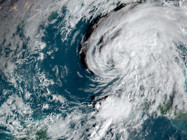 Hurricane Eta churns in the Gulf of Mexico in a satellite image captured at 8:31 a.m. ET on November 11, 2020.