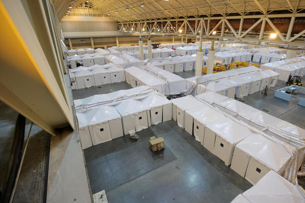 Medical Monitoring Station For Coronavirus Patients Set Up At Morial Convention Center