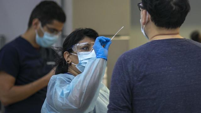 Coronavirus testing at LAX