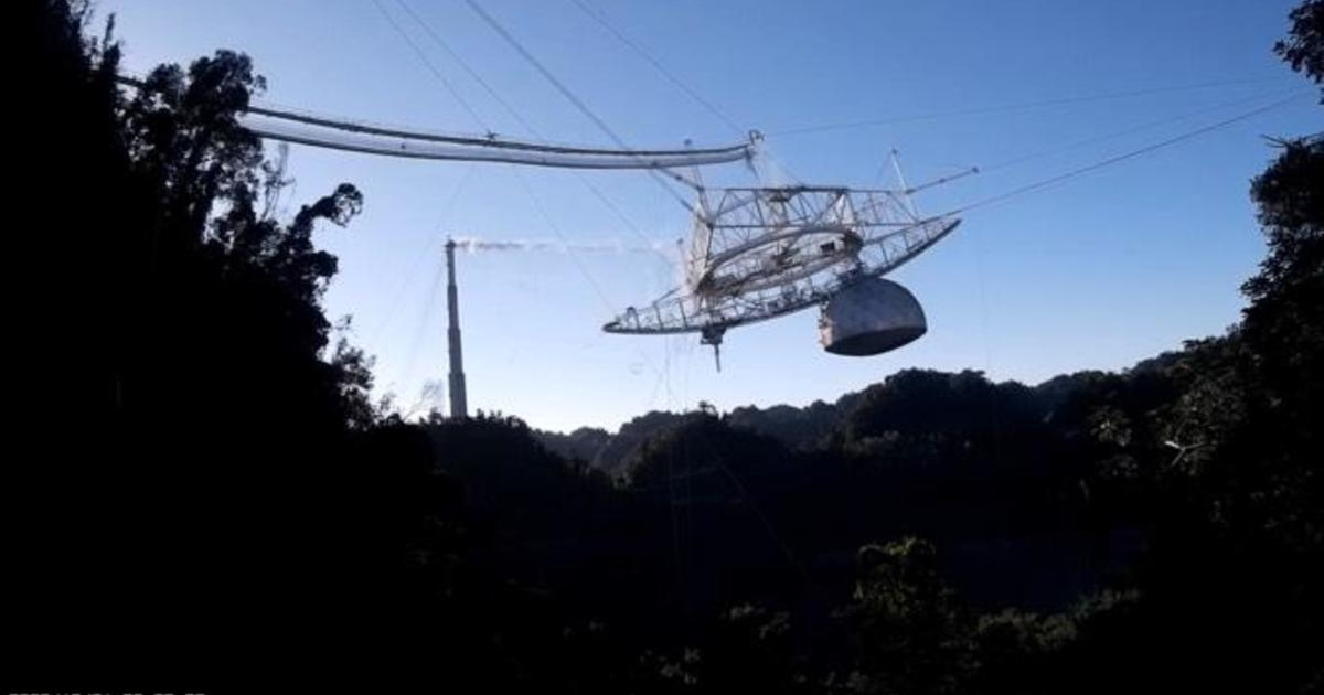 Dramatic video shows collapse at iconic Arecibo Observatory – CBS News