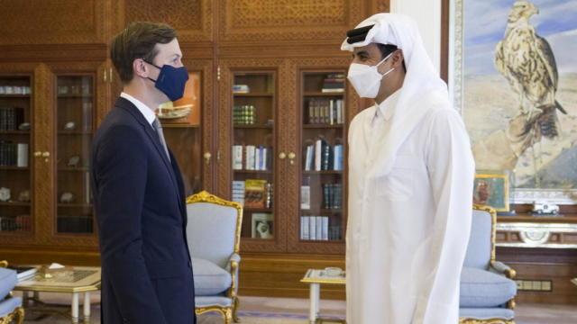 Qatar's ruler, Emir Sheikh Tamim bin Hamad al-Thani, meets with U.S. President's senior adviser Jared Kushner in Doha