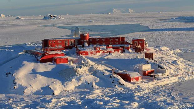 FILE PHOTO: General view of Chile's Bernardo O'Higgins army base at Antarctica