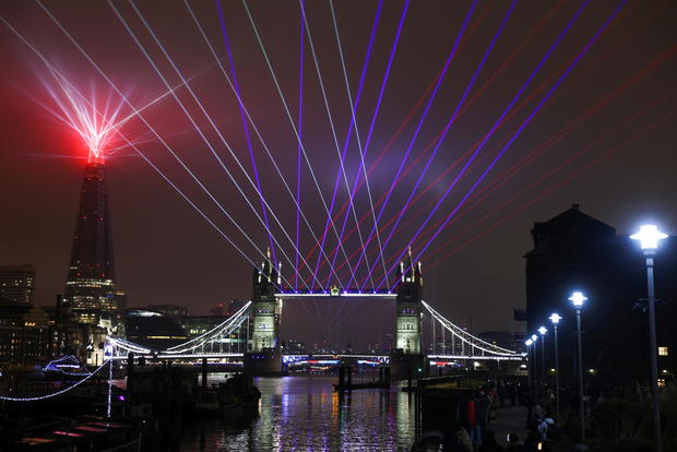 New Year's celebrations amid the COVID-19 restrictions in London