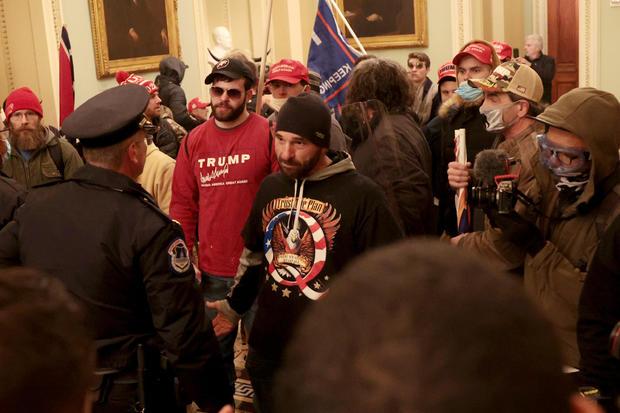 QAnon Trump supporter inside Capitol