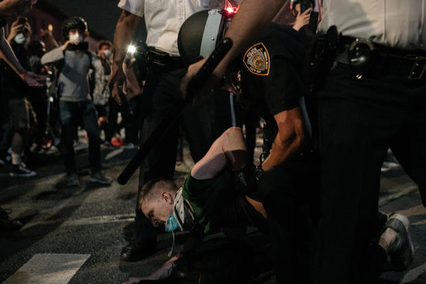 nyc police protest