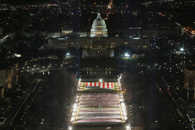 Field Of Flags Installed On National Mall For Americans Unable To Attend Inauguration
