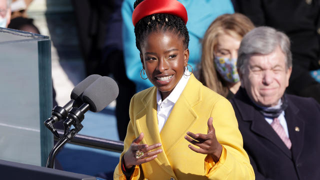 Youth Poet Laureate Amanda Gorman speaks at the inauguration of U.S. President Joe Biden