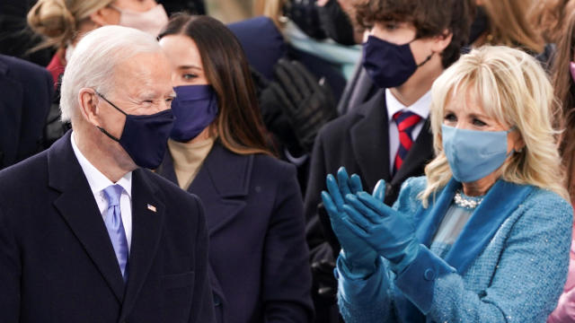 President-elect Joe Biden arrives for his inauguration as the 46th president of the United States on the West Front of the U.S. Capitol in Washington January 20, 2021.