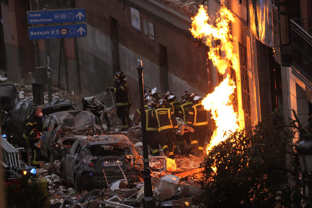 4 killed in Madrid gas explosion