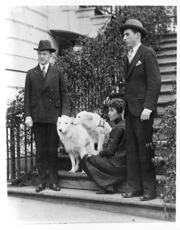 Coolidge Family at White House with Collies