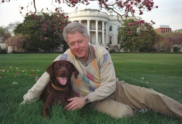 Clinton Posing With Buddy
