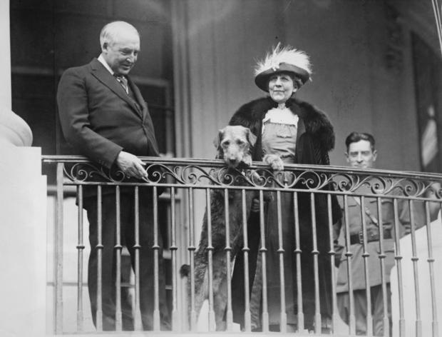 Harding And First Lady and Laddie Boy