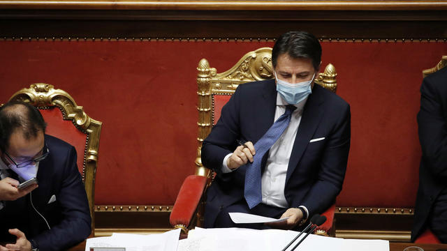 Government crisis. Communications from Giuseppe Conte to the Senate and vote of confidence