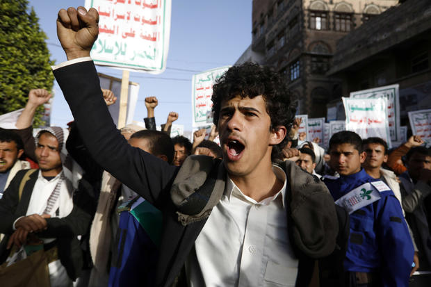 Supporters Rally Against Trump Administration Decision To Name Houthis A Terror Group