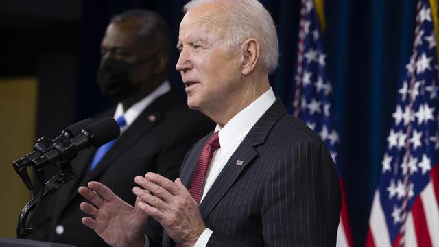 President Biden Speaks To Department of Defense Personnel At Pentagon
