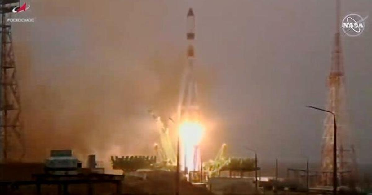 Russian cargo ship heads for space station, loaded with 2-and-a-half tons of supplies and equipment - CBS News