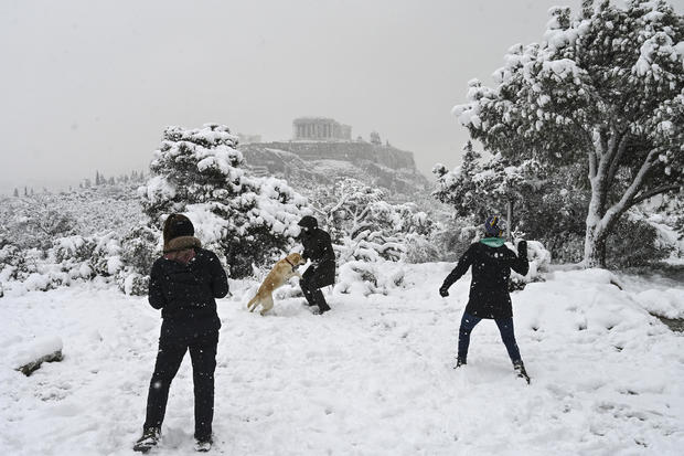 GREECE-WEATHER-SNOW-HISTORY-HERITAGE