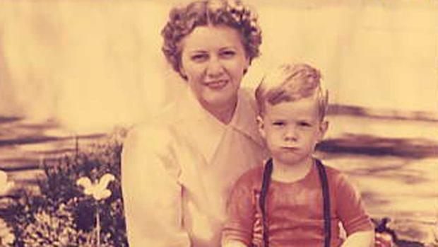 Roy Den Hollander as a boy pictured with his mother.
