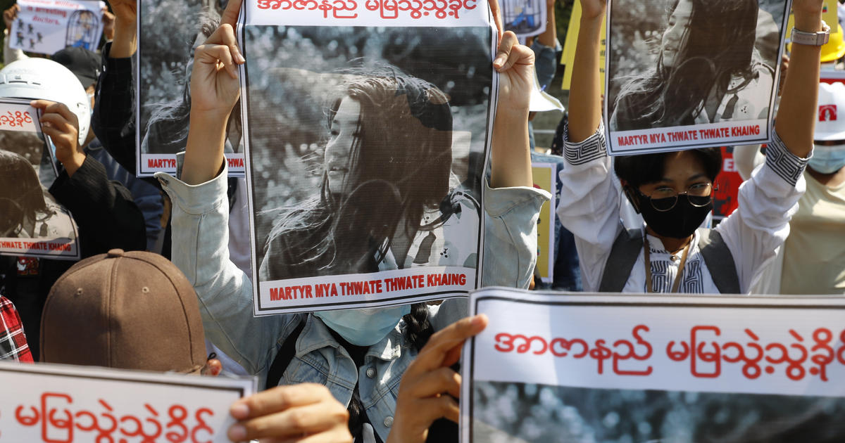 Young woman shot in head by police is 1st confirmed death in Myanmar's anti-coup protests