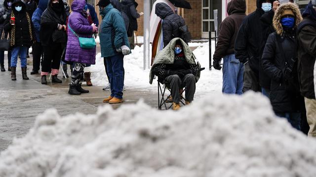 Winter Weather Explaining Vaccines Logjam