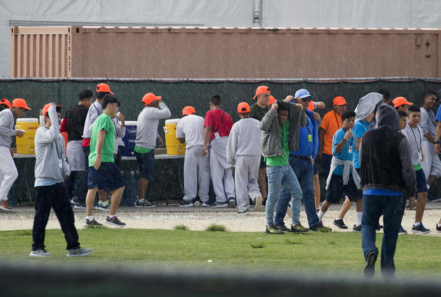 Democratic Representatives Tour Facility For Migrant Children In Homestead, FL