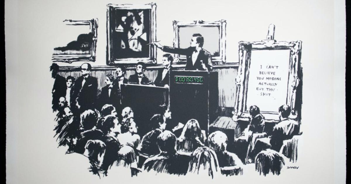 Blockchain company buys and burns Banksy artwork to turn it into a digital original