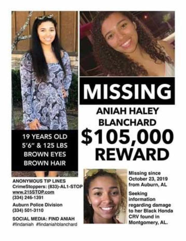 Aniah Blanchard reward poster