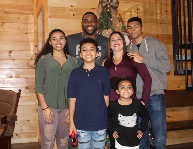 Aniah Blanchard and family