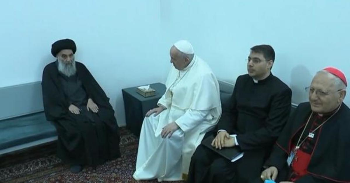 Pope Francis meets top Shia cleric on day two of historical visit