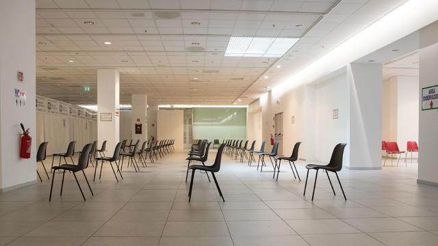 Empty Vaccination Hub In Brescia
