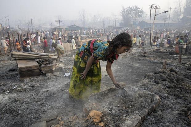 Fire Devastates Rohingya Refugee Camp in Bangladesh