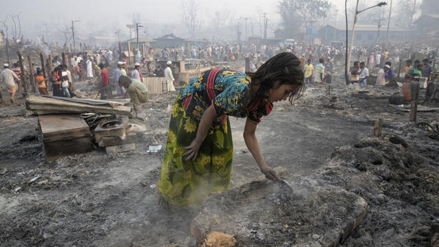Fire Devastates Rohingya Refugee Camp in Bangladesh