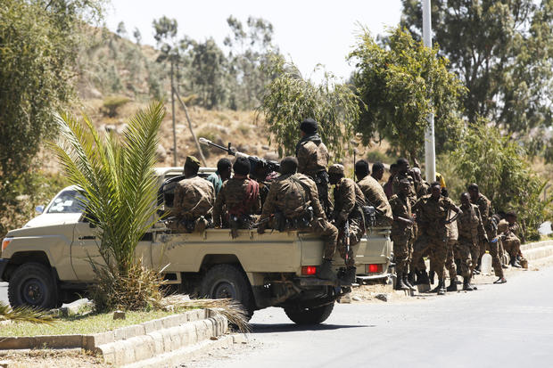 Ethiopian army patrols streets of Mekelle city