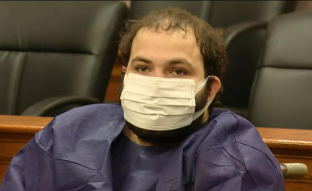Ahmad Al Aliwi Alissa appears in court in Boulder, Colorado, March 25, 2021.