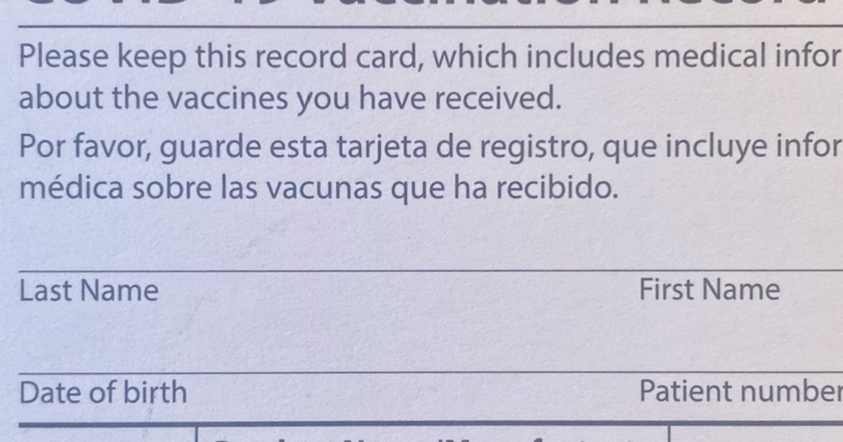 You've been vaccinated. So what should you do with your vaccine card?