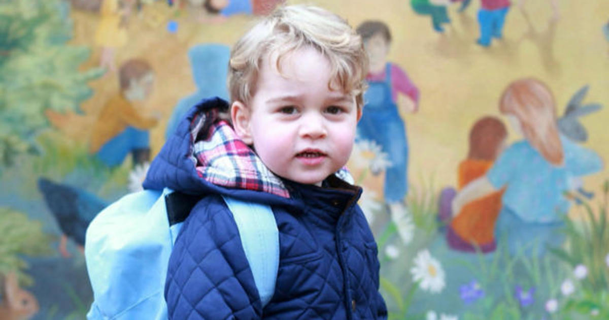Prince George's first day of nursery school