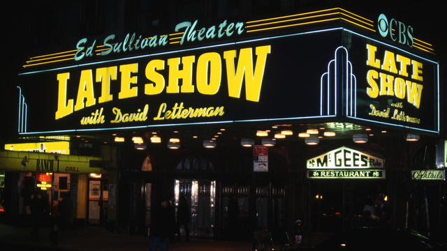 Marquee of the Ed Sullivan Theater