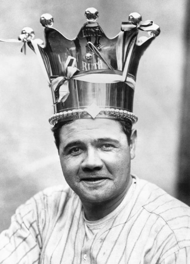 Babe Ruth Wearing Crown