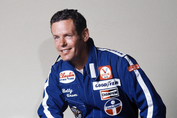 Racecar driver Bobby Unser is seen in a 1977 photo.