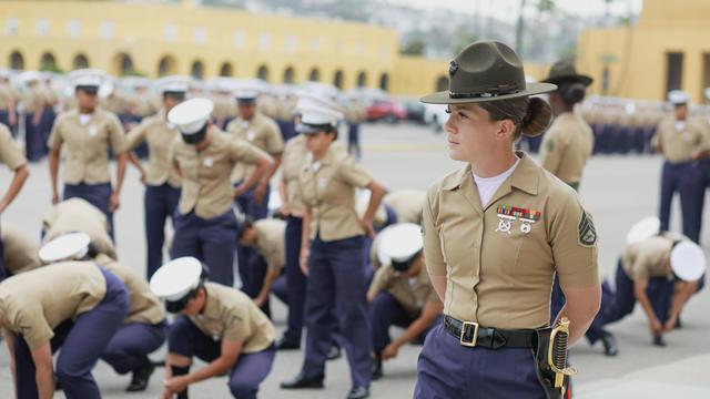 Female Class Of Marines Graduates From Camp Pendleton Training