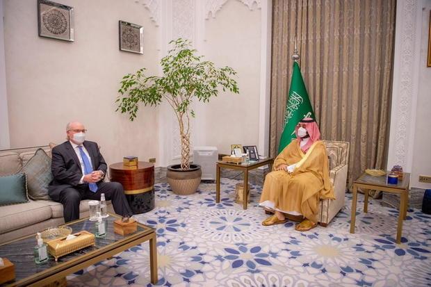 Saudi Crown Prince Mohammed bin Salman meets with U.S. Special Envoy for Yemen Tim Lenderking in Riyadh