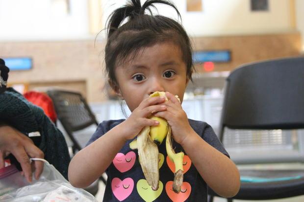 little girl at border