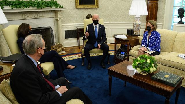 President Biden And VP Harris Meet With GOP Senators To Discuss American Rescue Plan
