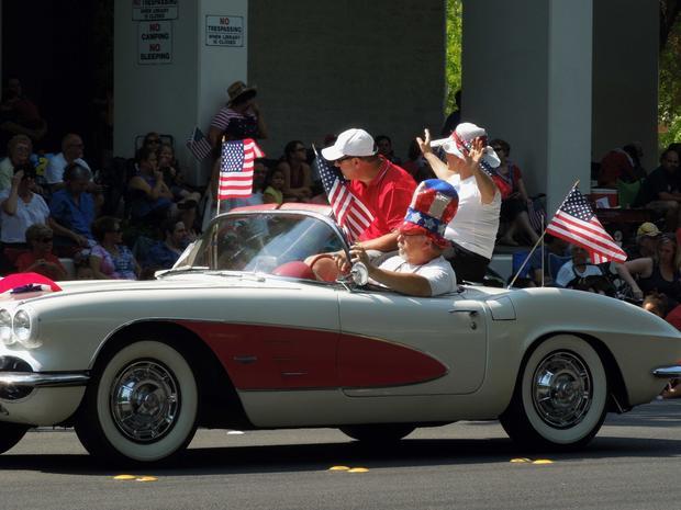 Scott Pettit driving his Corvette