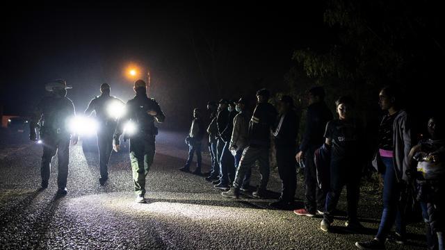 Migrants Crossing the Rio Grande River