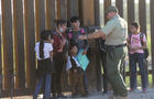 Asylum seekers enter the United States along the Arizona border