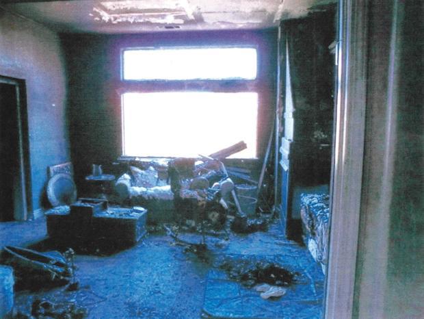 Pettit burned bedroom