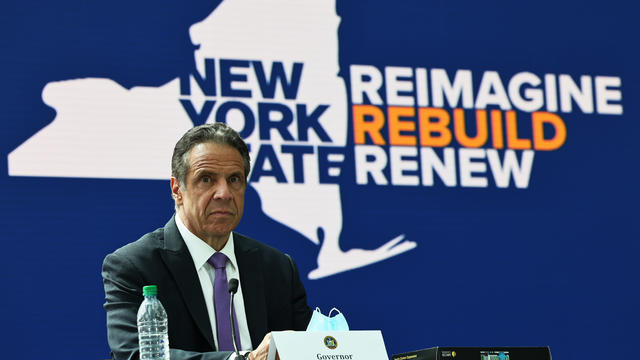 NY Governor Cuomo Provides COVID Update From Javits Center