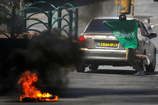 Palestinians protest over Gaza fighting